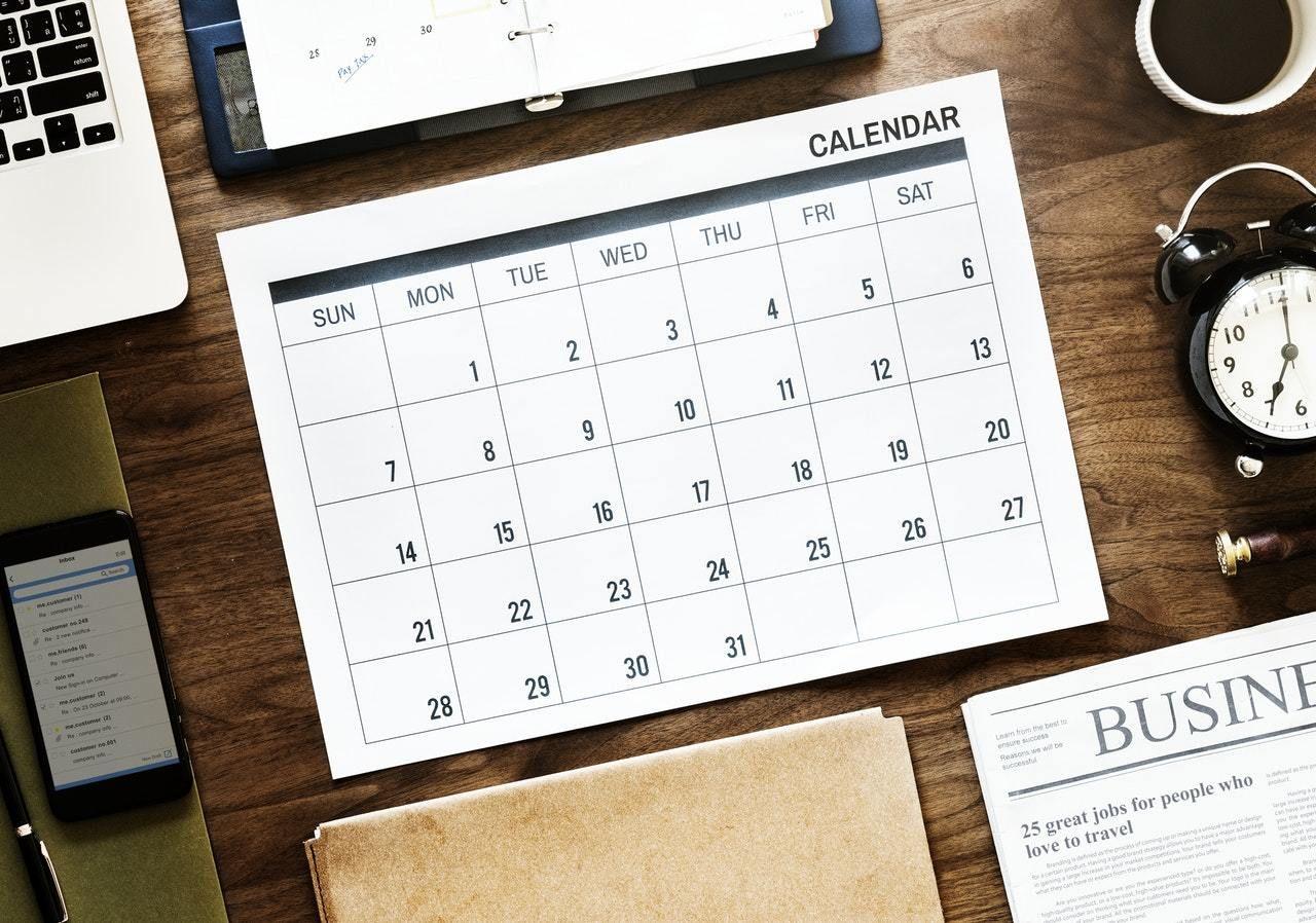 project timeline calendar