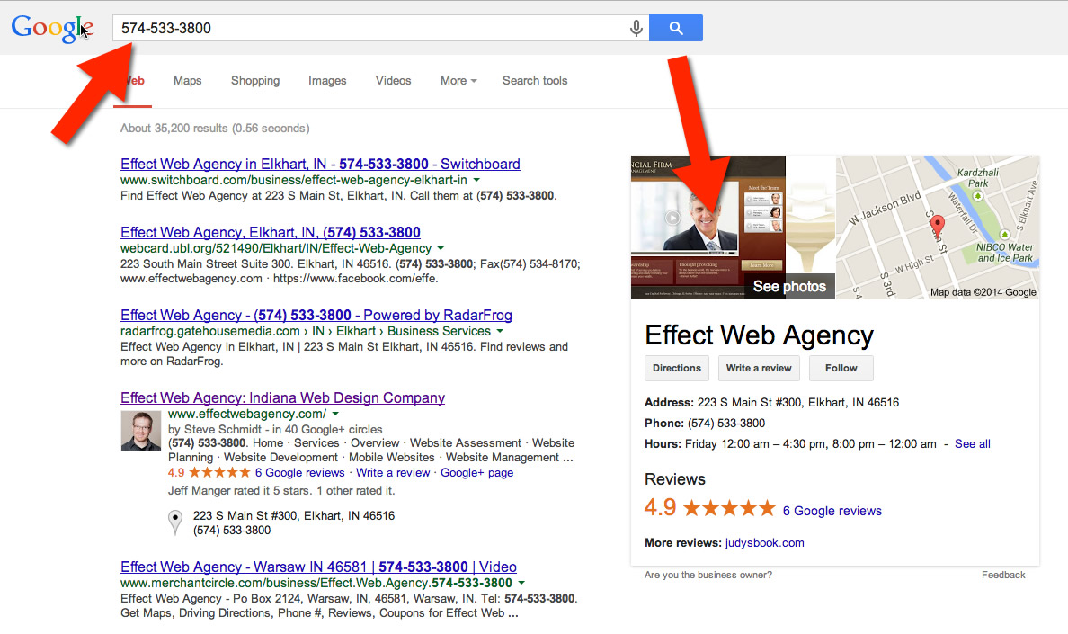 How 5 Google Places Reviews Bring Free Traffic - Effect Web Agency