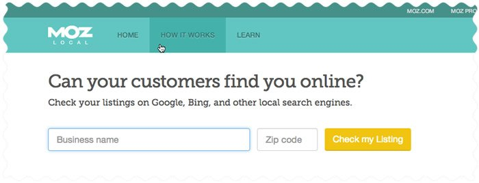 check local search engine listings