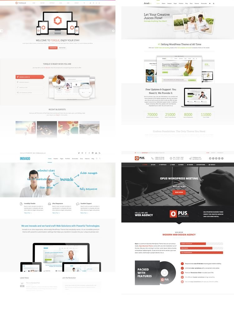 sample wordpress themes