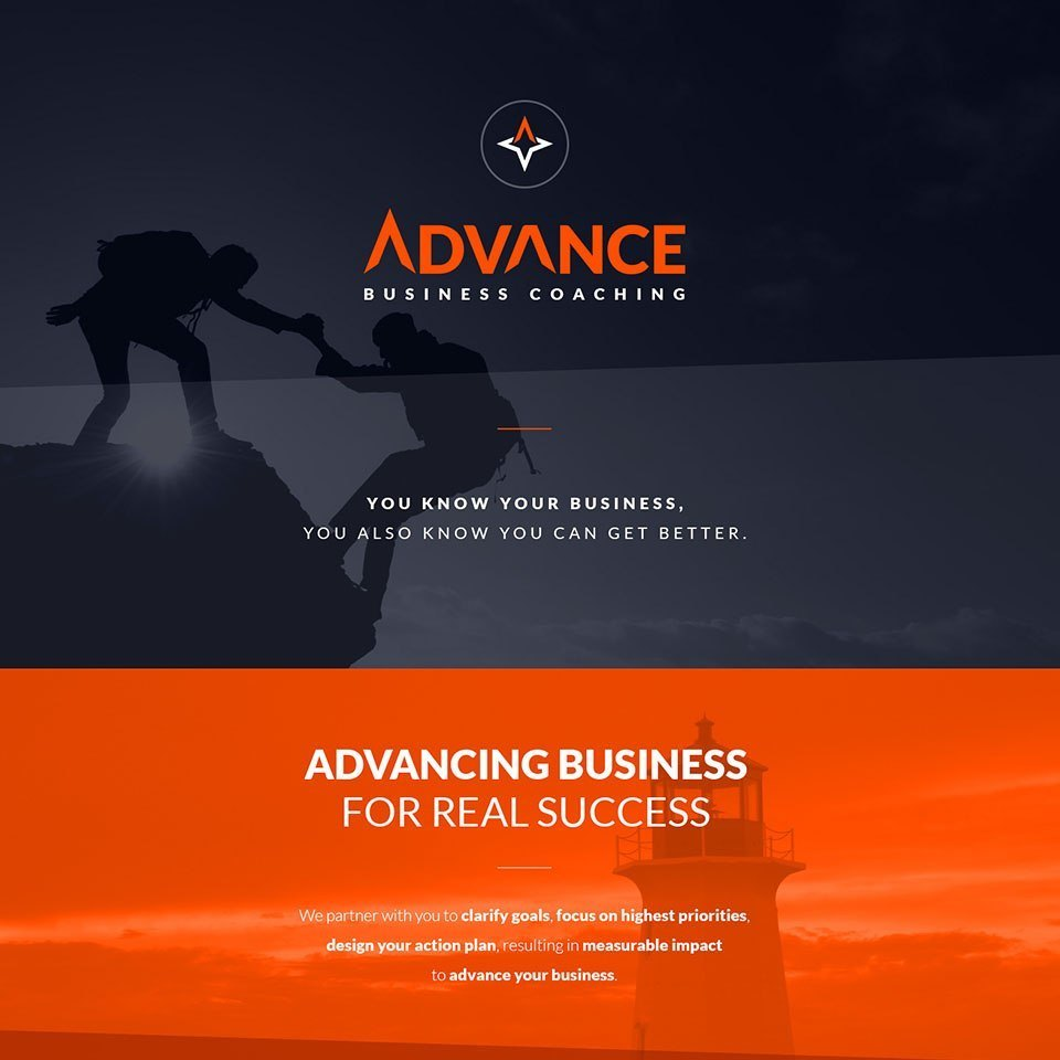 new website designed for advance business coaching