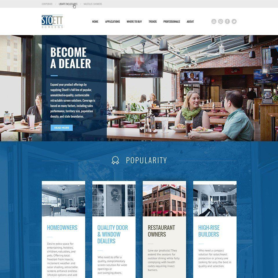 new web design project for stoett