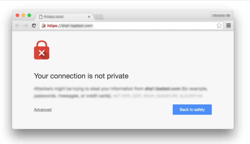 HTTPS Secure Website for Google Chrome