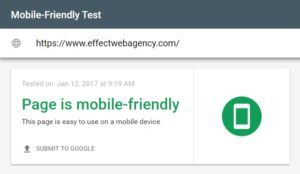 effect web agency is mobile index friendly