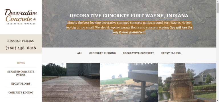 decorative concrete uses local optimization to rank #1 in Google