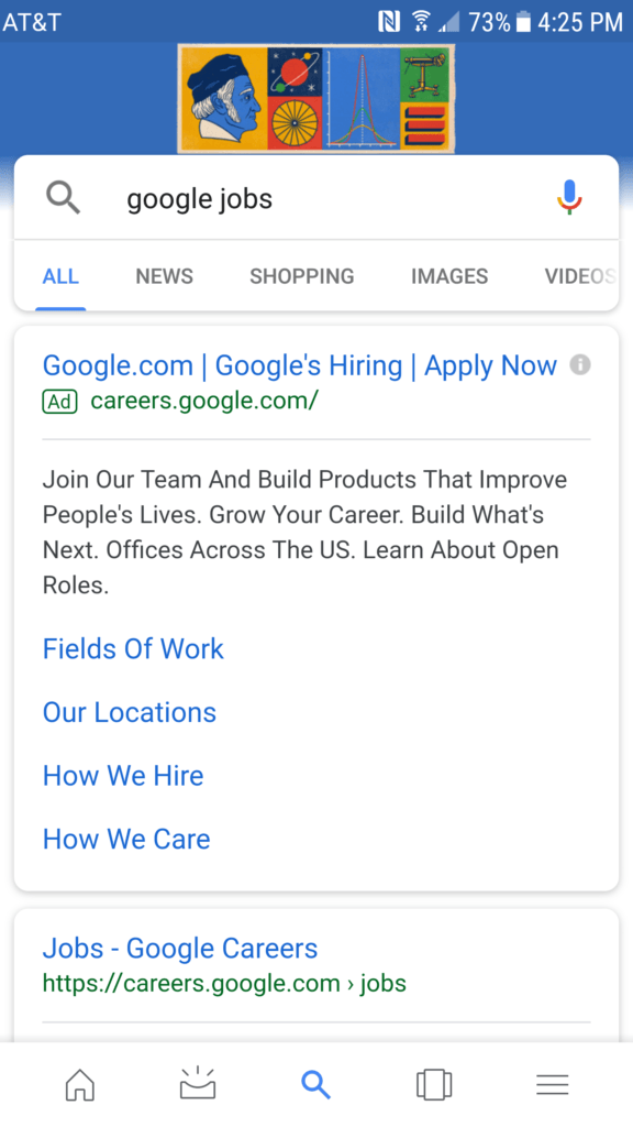 Google Jobs Listing Effect Web Agency