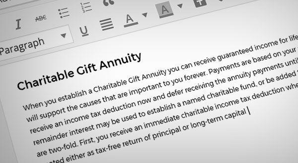 donation form for non-profit websites