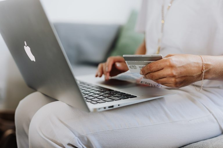 Woman making an e-commerce purchase