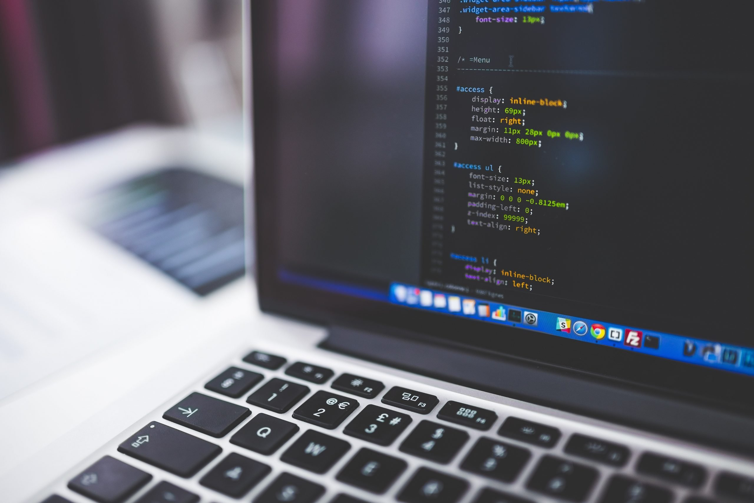 A computer with PHP coding